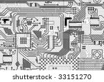 circuit board electronic... | Shutterstock . vector #33151270