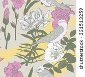 seamless pattern with flowers... | Shutterstock .eps vector #331513259