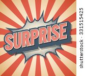 retro poster  surprise  vector... | Shutterstock .eps vector #331515425