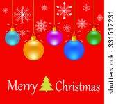 christmas art | Shutterstock . vector #331517231
