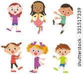 children meeting | Shutterstock .eps vector #331517339