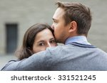 young couple mourns because of... | Shutterstock . vector #331521245