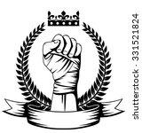 monochrome martial arts logo ... | Shutterstock .eps vector #331521824