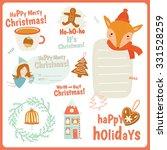 cute vector cards  notes ... | Shutterstock .eps vector #331528259
