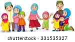 muslim families looking happy...   Shutterstock .eps vector #331535327
