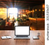 blank screen laptop computer... | Shutterstock . vector #331535657