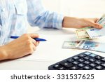 accounting concept.analyzing... | Shutterstock . vector #331537625