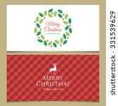 Christmas Card With Deer  Logo...