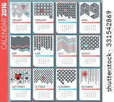 wall monthly calendar. vector...   Shutterstock .eps vector #331542869