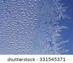 frost ice crystal on window... | Shutterstock . vector #331545371