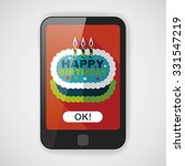 birthday cake flat icon with... | Shutterstock .eps vector #331547219
