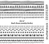 set of seamless borders. hand... | Shutterstock .eps vector #331551389
