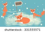set of cute foxes | Shutterstock .eps vector #331555571