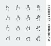 hand gestures and language thin ... | Shutterstock .eps vector #331555589
