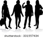 women silhouettes.   Shutterstock .eps vector #331557434
