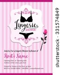 lingerie shower invitation card | Shutterstock .eps vector #331574849