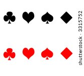 playing card suits   Shutterstock . vector #3315752