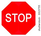 stop sign | Shutterstock . vector #3315755
