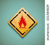 warning sign. flammable. flat... | Shutterstock .eps vector #331584839