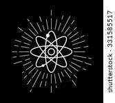 atomic model.   Shutterstock .eps vector #331585517