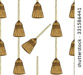 sketch broom in vintage style ... | Shutterstock .eps vector #331586441