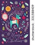 vector christmas illustration... | Shutterstock .eps vector #331588409