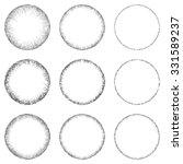 sketch circle design element...