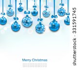 Illustration Christmas Blue...