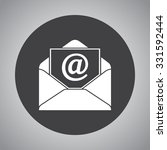 mail sign icon  vector... | Shutterstock .eps vector #331592444