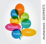 set of speech bubble with hello ... | Shutterstock . vector #331594571