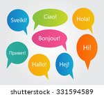 set of speech bubble with hello ... | Shutterstock . vector #331594589