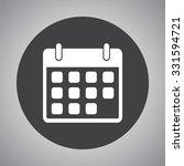 calendar sign icon  vector... | Shutterstock .eps vector #331594721
