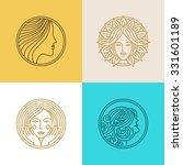 vector set of logo design... | Shutterstock .eps vector #331601189