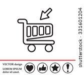 shopping cart  basket  line icon   Shutterstock .eps vector #331601204