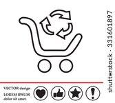exchange of goods line icon | Shutterstock .eps vector #331601897