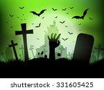 halloween background with... | Shutterstock .eps vector #331605425