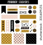 stickers for organized your... | Shutterstock .eps vector #331609151