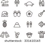 hawaii outline icons | Shutterstock .eps vector #331610165