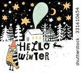 hello winter concept card in... | Shutterstock .eps vector #331610654