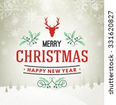 christmas postcard typographic... | Shutterstock .eps vector #331620827