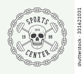 gym logos  labels and badges in ... | Shutterstock .eps vector #331621031