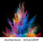 launched colorful powder on... | Shutterstock . vector #331622849
