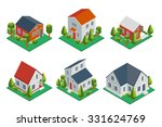 isometric 3d private house ... | Shutterstock .eps vector #331624769