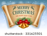 merry christmas greeting card... | Shutterstock .eps vector #331625501