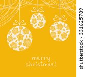 christmas background.... | Shutterstock . vector #331625789