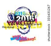monkey year illustration vector | Shutterstock .eps vector #331631267