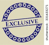 exclusive rubber stamp | Shutterstock .eps vector #331633271