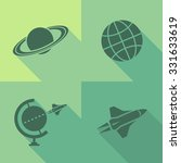 vector flat icons   space