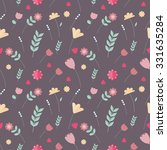 colorful floral seamless... | Shutterstock .eps vector #331635284