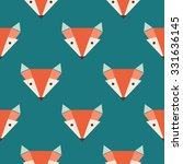 Cute Foxes Seamless Vector...